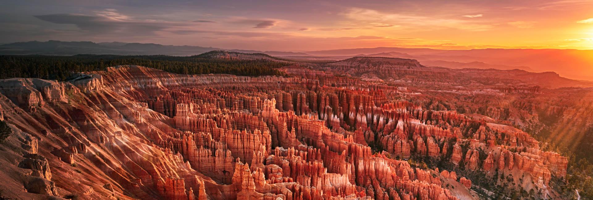 Bryce Canyon at dawn.