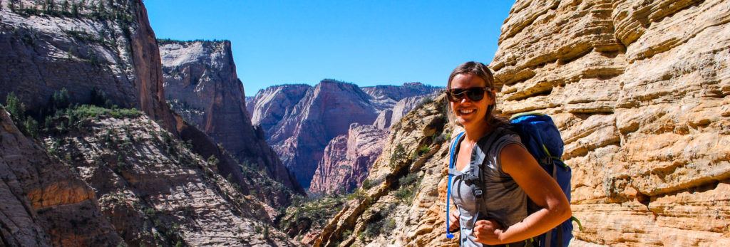 Self guided hiking at Zion N.P.