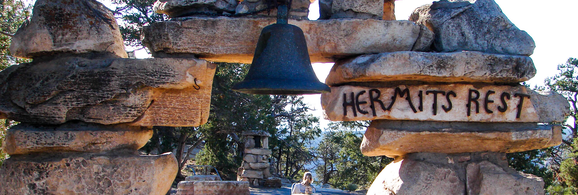 Stop at Hermit's Rest on our self-guided grand canyon backpacking tour!