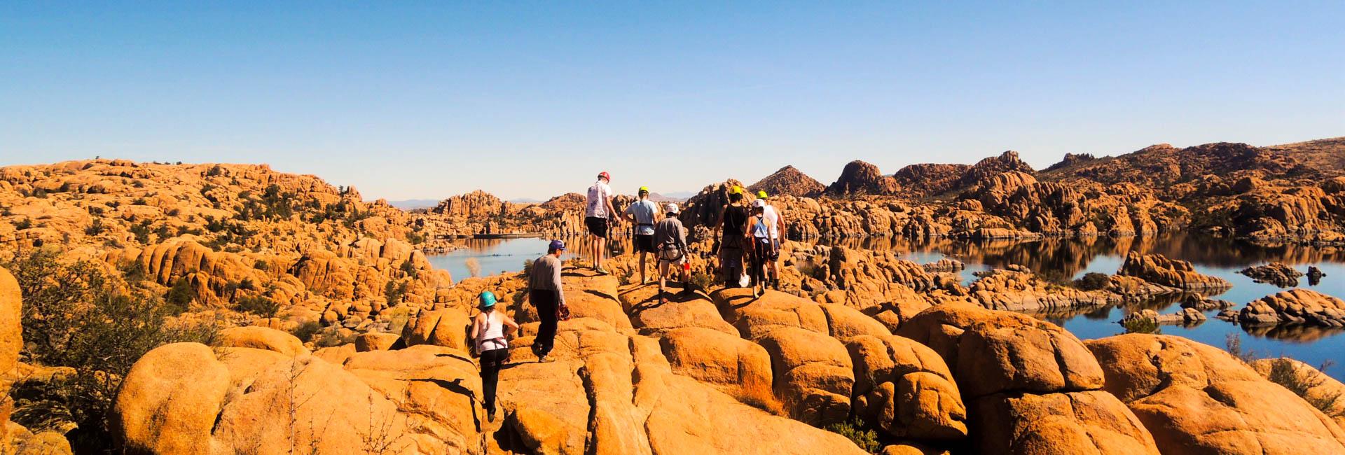 Climbing in Granite Dells