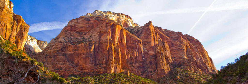 The view at Zion National Park on the Southern Utah Highlights guided hiking tour.